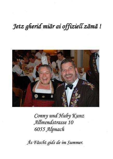 Hochzeit Kunz Durrer